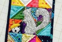 Swirly Girls Downloadable Mini Quilt Patterns / Mini quilt patterns available in pdf format.