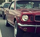 """The Pony - Vintage Ford Mustang / The beautiful Mustang created the """"pony car"""" class of American automobiles, affordable sporty coupes with long hoods and short rear decks"""