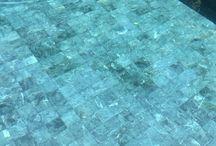 หินปูสระว่ายน้ำ / หินsukabumi blue stone