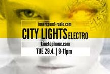 { City Lights } / Film Music Radioshows | http://kinetophone.com/ | https://about.me/elafini | (click posters to listen)
