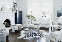 Black & White Interiors / Interiors and styling in black and white