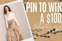 LS HOLIDAY WISHLIST / PIN TO WIN A $100 LIBBYSTORY.COM GIFTCARD 1. MAKE A BOARD CALLED LS HOLIDAY WISHLIST 2. PIN YOUR WISHLIST FROM LIBBYSTORY.COM 3. USE HASHTAG #LSPINTOWIN IN YOUR CAPTION 4. FOLLOW LIBBY STORY ON PINTEREST  -visit libbystory.com for full contest rules