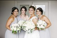 Natalie Chan Bridesmaids / A selection of our gorgeous bespoke bridesmaids in Natalie Chan dresses or headwear