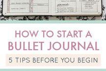 Bullet Journaling / bullet journaling ideas, how to bullet journal