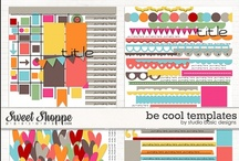 Digiscrap - Templates  / I love templates and can't scrap w/o them!  So here are my faves!