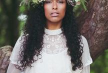 Natural Hairstyles for Weddings / Are you getting married soon? Congratulations! Here are some gorgeous photos of other black natural queens who have decided to let their curls take the limelight. You'll find updos and other elegant styles to wear at the altar. This board is also helpful if you're the guest. Want tips to make sure your hair is on point for the big day? Visit www.naturalhairqueen.net to learn the secret to healthy growth and long natural hair.
