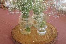 Decoración de bodas / Ideas para decorar tu boda: centros de mesa, sitting, estaciones, mantelería...