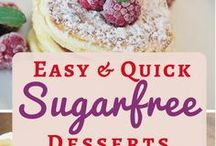 Easy Sugarfree Recipes / Easy sugar free recipes for the home cook: Real food with less sugar NOT less taste. Desserts, cookies, cakes, muffins, snacks, ice cream, cooking with dextrose