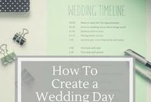 Organized Wedding Planning / Wedding planning can be overwhelming!  These checklists, timelines, and tip lists will keep you organized and sane as you plan!  Create a wedding binder, and add some to do lists!