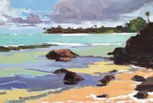 My paintings of Hawaii / Oil, acrylic, watercolors and mixed media