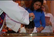 Baptism / One of two sacraments for Lutherans, the other being Holy Communion. Baptism is the entry rite into the Christian faith. It is an act instituted by God, performed using water in the name of the Father, Son and Holy Spirit, whereby the baptized is united with Christ.