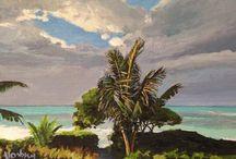 My Tropical and Hawaiian original paintings and giclee reproductions / My original paintings and reproductions for sale
