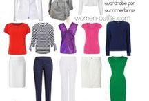 Cool Winter outfits / Cool Winter color palette outfits