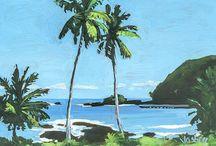 Hana, Maui / My paintings of Hana, Maui and surrounding beaches and waterfalls.