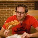 How to Eat a NY Slice of Pizza / Pizza tour guide Scott Weiner shows you how it's done, rookie.