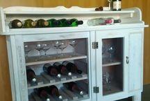 Weinschrank, handgefertigt, Unikat