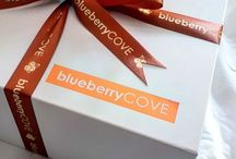 Gift Boxes - Blueberry Cove / A little look at our luxury gift boxes, wrapping, ribbon and foil. We pride ourselves on giving the customer a luxury experience when sending a gift, at a price that's affordable. We have three collections: Bronze, Silver and Gold. At Christmas time you can opt for personalised Christmas ribbon.