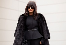 Black is the New Black / While I LOVE color, there is something so beautiful about a primarily black ensemble...