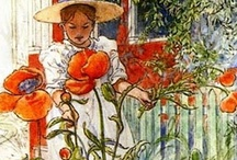 Carl Larsson - Painter / Paintings by the Swedish artist Carl Larsson. For more floral inspiration and flower arranging tips - visit my blog Of Spring and Summer: http://ofspringandsummer.blogspot.co.uk/