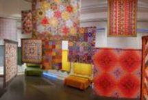 Kaffe Fassett quilt exhibition, Lampeter , west Wales