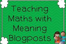 Teaching Maths with Meaning Blog / Ideas from my blog. Click on the image to be taken directly back to the blog article. Thank you!
