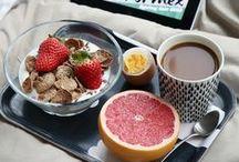 breakfasting (in bed)