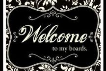 Welcome! Pin Away! / Welcome!  I'm glad you're here! Have a cocktail or cup of tea, a bite to eat, and enjoy.  Pin 'til your heart's content.  Followers appreciated!