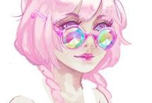 Anime in Pastel
