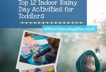 Rainy Day Activities for Children / Find inspiration for things to do with your kids when it's too miserable outside to venture out. A whole host of activities for toddlers and children guaranteed to keep them busy and out of mischief!
