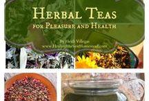 Teas / How to make herbal teas for health. Herbal tea remedies. Using herbs in your tea.