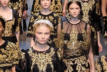 Baroque / Opulence / The ornamented drama of the Baroque and Rococo periods returns in new ways for fall 2012, rebelling against the minimal and the financially conscious to show that obvious displays of luxury are still on the cards. From gilded filagree to embroidery, plush appliques to heavy brocades, going for Baroque is one way to stand out come fall.