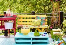 patios and porches / by Hilda