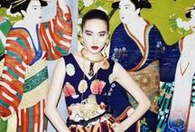 Neo Geisha / Designers have turned their attention to the Far East.  Silk jacquards, Asian-inspired prints and classic Chinoiserie spice things up.  Textiles, motifs & adornments celebrate Eastern origins. / by Cynthia Reccord