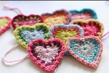 Crochet | Embellishments / Crochet flowers and hearts