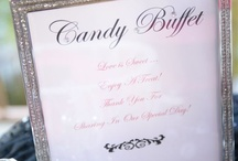 My Wedding Candy Buffet / Black and White Candy Bar from Candy Warehouse!