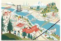 CITY & MAP / City & map illustrations