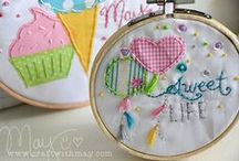 Embroidery hoop love / From paper to traditional styles - loving on these embroidery hoop projects