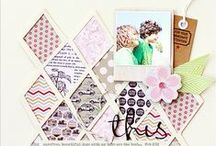 Scrapbook Layouts / Scrapbook layouts, mini books, and project life inspiration