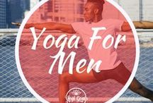 Yoga For Men / Yoga inspiration for yogi beginners and experts. All sorts of yoga poses - expect lots of handstands and arm balances.