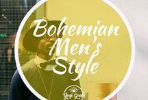 Bohemian Men's Style / Free and easy bohemian style for men. Get your festival fashion inspiration right here.