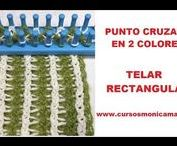 PUNTOS TELAR MAYA / Tutoriales con Puntos Basicos en Telar Rectangular y Telar Redondo