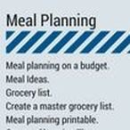 Meal Planning / Meal planning on a budget. Meal Ideas. Grocery list. Create a master grocery list. Meal planning printable. Grocery Shopping Tips.