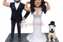 Figuras de Bodas Personalizadas / ¡Muñecos personalizados para el día de tu boda!  Sería perfecto para ponerla en la tarta y sorprender a todos tus invitados :D