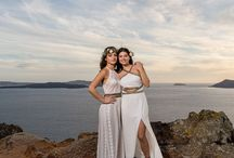 Santorini sunset  Lesbian Wedding engagement