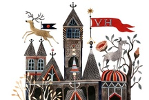 illustration : : settings / Illustrations featuring beautiful places: cities, villages, country, forest, homes, rooms.