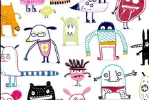 Illustration : : print, textile and patterns / Patterns and colors i like: fabrics, textiles, gift wrap, clothes, color palettes, cute designs.