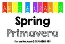 Arts & Crafts: Spring (Primavera) / Arts and crafts about spring.