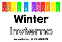 Arts & Crafts: Winter (invierno) / Arts and crafts about winter & Christmas.