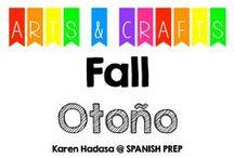 Arts & Crafts: Fall (otoño) / Arts and crafts about fall.