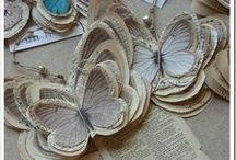 Trends - Book Paper / Trending:  Book paper stars, flowers, banners, cones and more!  Read up on it!